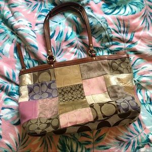 Coach | Multicolor Patchwork Zip Tote Handbag